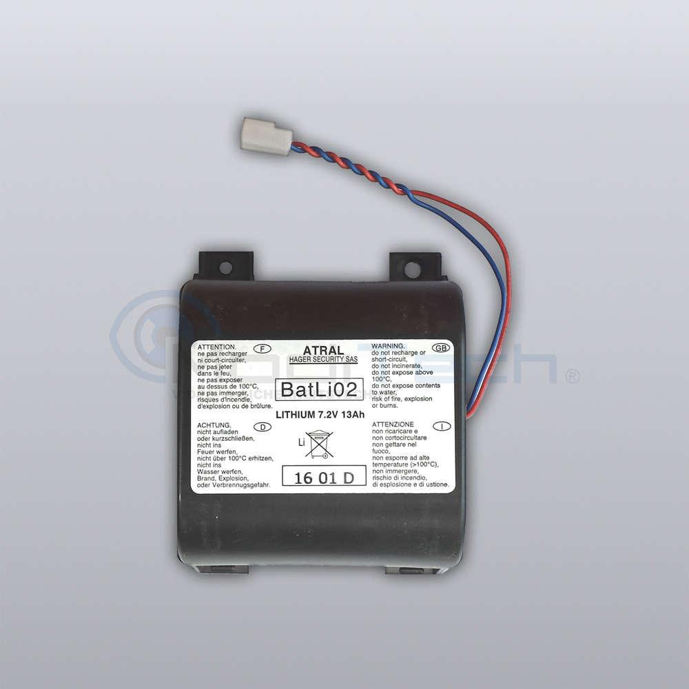 BATLI02 - Lithium-Batteriepack 7,2V / 13Ah - Daitem Atral