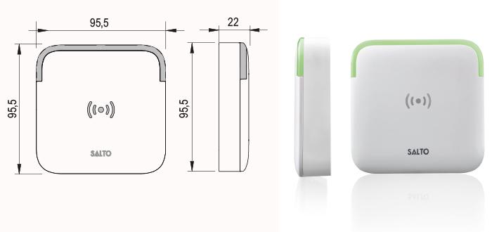 SALTO - XS4 2 0 Wall Reader Proximity BLE DESFire/MIFARE/HID iCLASS